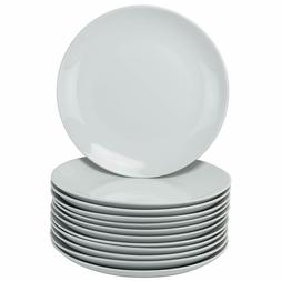 10 Porcelain Catering Packs Square Salad/Dinner Plates , Whi