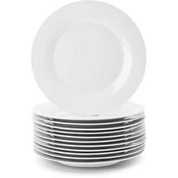 "10 Strawberry Street 10.5"" White Dinner Plates, Set of 12"