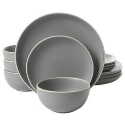 12 Piece Dinnerware Set Dishwasher Safe Matte Kitchen Stonew