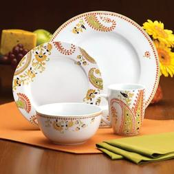 16-Piece Dinnerware Set Rachael Ray Dinnerware Paisley