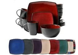 16-Piece Dinnerware Set Stoneware Kitchen Dinner Plates Bowl