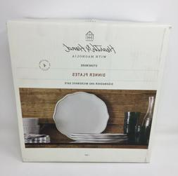 2 Boxes 8 Plates Hearth And Hand Magnolia Stoneware Dinner P