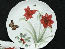 2  LENOX Butterfly Meadow Holliday AMARYLIS Porcelain Dinner