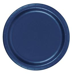 """24 Plates 9"""" Paper Dinner Lunch Plates Wax Coated - Navy Blu"""