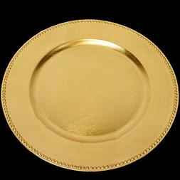 SPRINGROSE 25 Gold Charger Plates | Buy in Bulk and Save | T