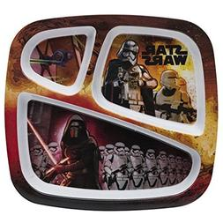 Zak! Designs 3-section Plate with Star Wars The Force Awaken