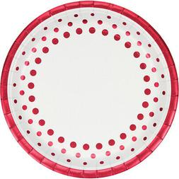 "Creative Converting 317853 8 Count Paper Dinner Plates, 9"","