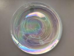 NEW ARTISTIC ACCENTS PEARL WHITE OPAL IRIDESCENT GLASS DINN