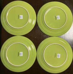 "4 - NEW - RACHAEL RAY DOUBLE RIDGE - LIME GREEN 11"" DINNER P"