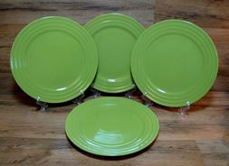 4 - NEW - RACHAEL RAY DOUBLE RIDGE - LIME GREEN DINNER PLATE