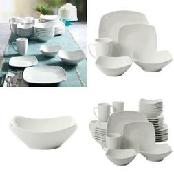 40 piece dinnerware set white ceramic kitchen