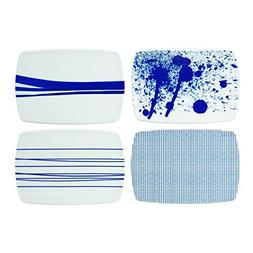 "Royal Doulton 40029956 Pacific Cheese Boards Set/4, 7.8"", Bl"