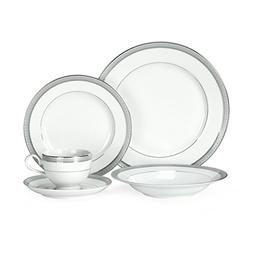 Mikasa 5224199 Platinum Crown 40-Piece Dinnerware Set, Servi