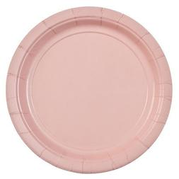 Party Dimensions 72672 24 Count Paper Plate, 7-Inch, Pink