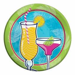 Creative Converting 8 Count Paper Dinner Plates, Summer Drin