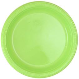 Party Dimensions 80593 10 Count Plastic Plate, 9-Inch, Lime