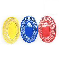 9.5'' Plastic Fast Food Basket Hot Dog Sandwich Serving Tray