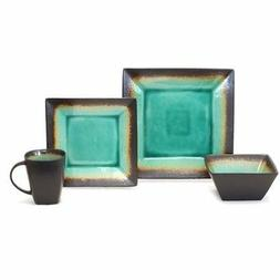 Better Homes and Gardens Jade Crackle 16-Piece Dinnerware Se