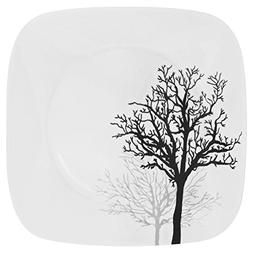 """Corelle Square Timber Shadows 10.25"""" Dinner Plate"""