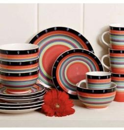 Gibson Home 97694.16r Casa Stella 16-Piece Dinnerware Set, R