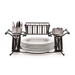 Gourmet Basics by Mikasa 5154842 Band and Stripe Metal Hoste