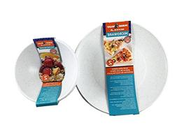 Microwave Safe Plates and Bowls 4 Piece Eco-Friendly Dinnerw