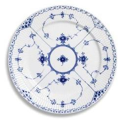 Royal Copenhagen Blue Fluted Half Lace Dinner Plate