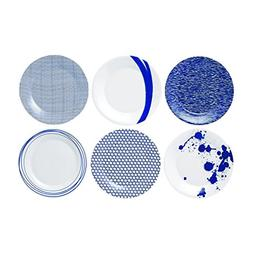 Royal Doulton Pacific Accent Plates, 9-Inch, Blue, Set of 6
