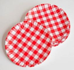 """What Is It?"" Reusable Red & White Gingham Checkered Picnic"