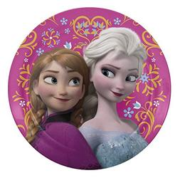 Zak Designs Disney Frozen 8-inch Plastic Plate for Kids, Els