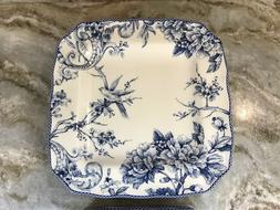 Adelaide Blue Square Dinner Or Salad Plates 222 Fifth Set Of