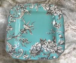 Adelaide Turquoise Square Dinner Plates 222 Fifth. Set Of 4.