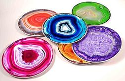 Agate Ceramic Serving Plates - Set of 6