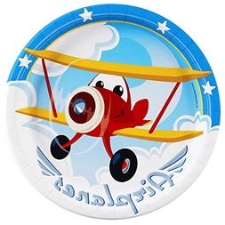 BirthdayExpress Airplane Adventure Dinner Plates