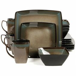 AMAZING Gibson Elite Tequesta 16-Piece Square Dinnerware Set
