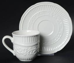 Mikasa American Countryside Flat Cup & Saucer Set, Fine Chin