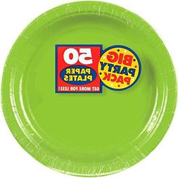 Amscan Kiwi Green Paper Plate Big Party Pack, 50 Ct.