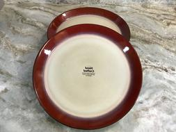 Aria Red Dinner Plates Set Of 4. Pfaltzgraff Stoneware. New.