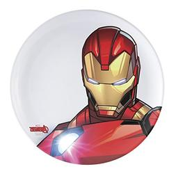 Zak Designs AVNZ-0352 10-Inch Plastic Dinner Plate, Iron man