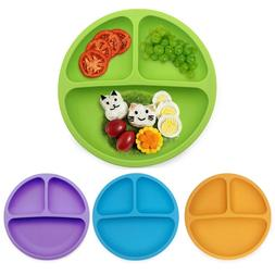 Baby Silicone <font><b>Dining</b></font> <font><b>Plate</b><