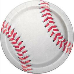 BASEBALL LARGE PAPER PLATES  ~ Sports Birthday Party Supplie