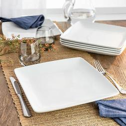 Better Homes & Gardens Loden Coupe Square Dinner Plates set