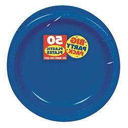 """Big Party Pack Bright Royal Blue Plastic Plates 
