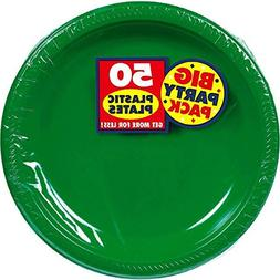 Big Party Pack Festive Green Plastic Plates | 10.25"