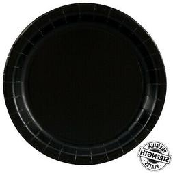 black party supplies dinner plate 48 shipping