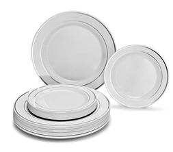 OCCASIONS 120 Piece Pack heavyweight Wedding Party Disposabl