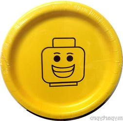 Block party Block Head Smiley Face Dinner Plates Birthday Pa