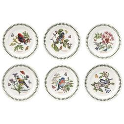 PORTMEIRION BOTANIC GARDEN BIRDS Dinner plates set of 6 asso