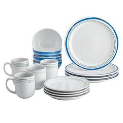 Rachael Ray Brushstrokes Stoneware Dinnerware Set, 16-Piece,