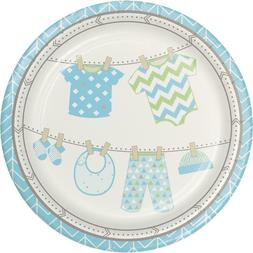 Bundle of Joy Boy Dinner Plates  - Baby Shower Party Supplie